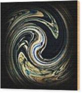 Swirl Design  Wood Print