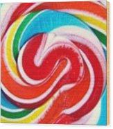 Swirl Of Happiness Wood Print