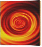 Swirled Sunrise Wood Print