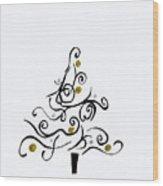 Swirled Tree Wood Print