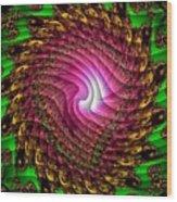 Swirledya-neonaya Catus 1 No.1 V A Wood Print