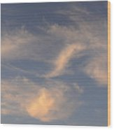 Swirling Clouds Wood Print