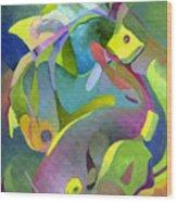 Swirling Fish Wood Print