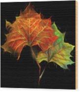 Swirling In The Wind Wood Print