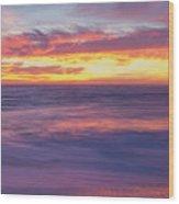 Swirling Ocean And Sky Wood Print