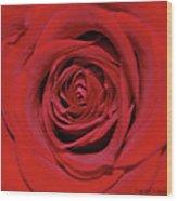 Swirling Red Silk Wood Print