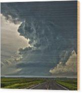 Swirling Skies Wood Print