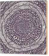 Swirling Spirals Wood Print