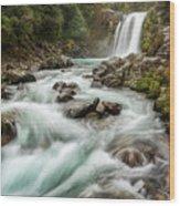 Swirling Waters - Tawhai Falls Wood Print