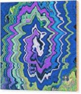 Swirling Wave Wood Print