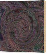 Swirlpool Neon Wood Print
