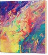Swirls Of Paint IIi Wood Print
