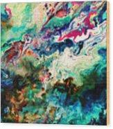 Swirls Of Paint Xii Wood Print