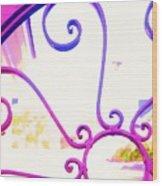 Swirls On A Gate Wood Print
