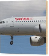 Swiss Airlines Airbus A320 Wood Print
