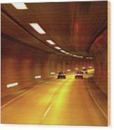 Swiss Alpine Tunnel Wood Print