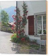 Swiss Cottage Wood Print