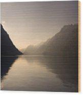 Swiss Lake Wood Print