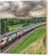 Swiss Passenger Train Wood Print