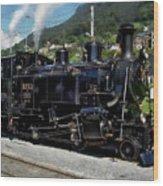 Swiss Steam Locomotive Wood Print