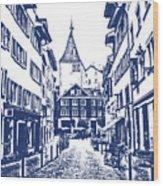 Swiss Street Wood Print