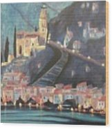 Switzerland By Night Wood Print