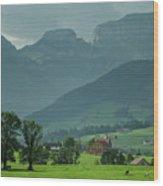 Switzerland Countryside Wood Print