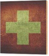 Switzerland Distressed Flag Dehner Wood Print