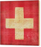 Switzerland Flag Wood Print by Setsiri Silapasuwanchai