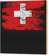 Switzerland Gift Country Flag Patriotic Travel Shirt Europe Light Wood Print