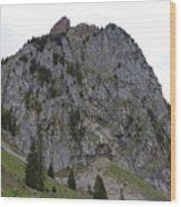 Switzerland. Large Mythen Wood Print