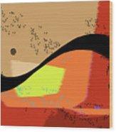 Swoosh, Abstract Wood Print