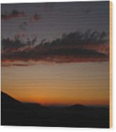 Pennsylvania Sunset In Haltzon Wood Print