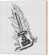 Sword With Magical Powers Wood Print