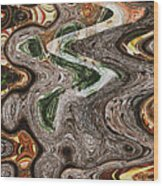 Sycamore Tree Abstract # 9283 Wood Print