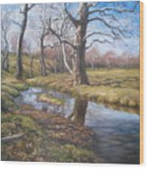 Sycamores Wood Print