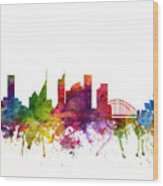 Sydney Australia Cityscape 06 Wood Print