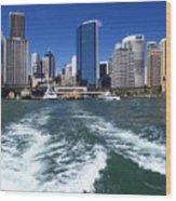 Sydney Circular Quay Wood Print by Melanie Viola