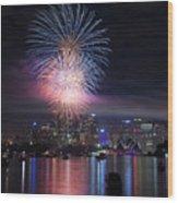 Sydney Fireworks Wood Print