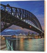 Sydney Harbor Bridge Wood Print