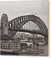 Sydney Harbor Bridge Platinum Wood Print