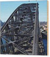 Sydney Harbour Bridge Wood Print by Melanie Viola