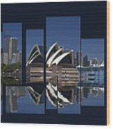 Sydney Harbour Collage Wood Print
