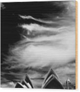Sydney Opera House Portrait Wood Print
