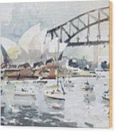 Sydney Opera  Wood Print