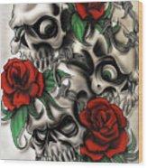 Syfy- Skulls Wood Print
