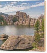 Sylvan Lake View Wood Print