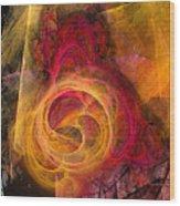 Symbiosis Abstract Art Wood Print