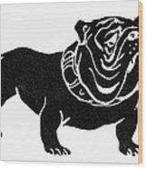 Symbol: Bulldog Wood Print