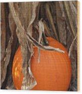 Symbols Of Fall Wood Print